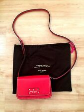 Kate Spade Red Leather Crossbody Wellesley Small Flynn w/ Duster Bag New W/O Tag