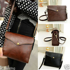 Womens Lady Retro Leather Shoulder Bag Satchel Handbag Tote Hobo Messenger Purse