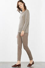 NEW Esprit Womens Textured jumper with Lurex boucl LIGHT GUNMETAL 5