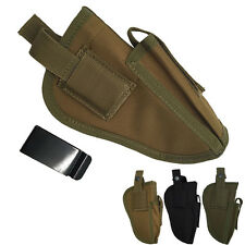 Waterproof Tactical Military Hand Gun Pouch Pistol Holster with Mag Slot Holder