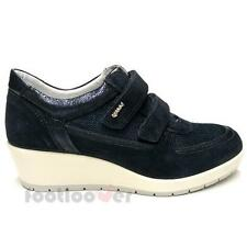Scarpe Igi&Co Sneaker Wedge 77595 00 Woman Suede Canvas Sport Blue Made in Italy