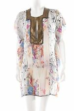 Tunic Blouse abstract pattern extravagant style Women's Size UK 12 pink