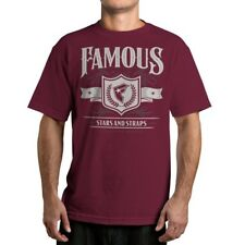 Famous Stars and Straps Mens Hard Liquor T-Shirt Burgundy