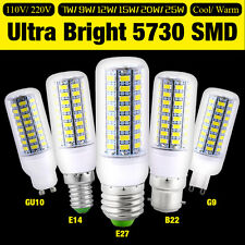 Ultra Bright 5730 LED Corn Lamp Light Bulb White 110V 220V 7W 9W 12W 15W 20W 25W