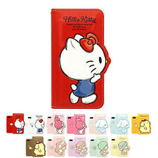 Hello Kitty 3D Silhouette Cutie Leather Diary Cover Case For Apple iPhone SE
