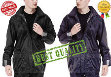 New Mens Army Camouflage Waterproof Hooded Lightweight Outdoor PVC Rain Jacket