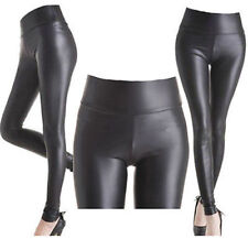 New Womens Wet Look Leggings Celeb Inspired Pvc Faux Leather Shiny Skinny Pants