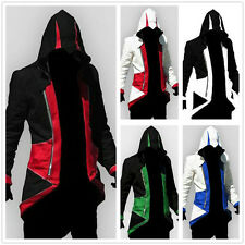 Assassins Creed 3 III Conner Kenway Cosplay Hoodie Jacket Coat Men's Costume Top
