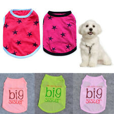 Cute Summer Pet Puppy Small Dog Cat Pet Clothes Polyester Vest T Shirt Apparel