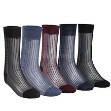 Men's Sheer Jacquard New Cold Thin Summer Socks Dress Socks 3 pairs in pack
