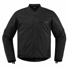 Icon Mens Stealth Black Textile Konflict Motorcycle Jacket