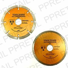 """115MM/4"""" SEGMENTED/CONTINUOUS RIM DIAMOND DISC Angle Grinder Blade Cutting NEW"""
