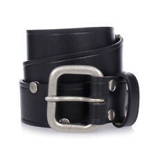 MARTIN MARGIELA MM11 New Man Studs Leather Black Belt Made in Italy NWT