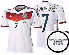 ADIDAS SCHWEINSTEIGER GERMANY AUTHENTIC FINAL GAME JERSEY WORLD CUP BRAZIL 2014