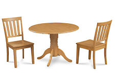 "M&D FURNITURE 42"" BURLINGTON DINETTE DINING TABLE SET WOODEN SEAT CHAIRS"