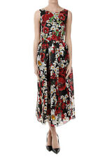 DOLCE E GABBANA New Woman Floral Pattern Embroidered Dress Made in Italy