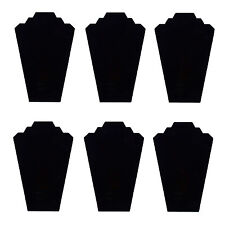 2 Pc Set Black Velvet Necklace Padded Bust Jewelry Display Showcase Tower Stand