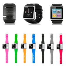 8 Color Silicone Watch Band Wrist Strap Case Cover For Apple iPod Nano 6 6th Gen