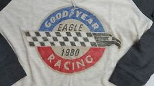 NWT Lucky Brand GoodYear 3/4 Slv Loose Fit Cream Graphic T-Shirt Choose Sz L2020