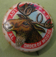 Antique Early 1900's Loyal Order of Moose Fraternity Pin