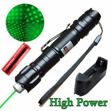 Military 10 Miles 532nm Green Laser Pointer Pen Visible Beam +18650+Charger WT