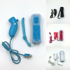 Built in Motion Plus Remote +Nunchuck Controller Set For Nintendo Wii +Case New