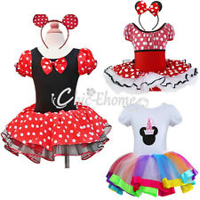 Minnie Mouse Clothes Girls Princess Birthday Party Tutu Costume Dress Headband