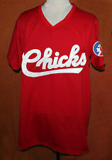 BO JACKSON MEMPHIS CHICKS JERSEY V-NECK RED SEWN NEW   ANY SIZE
