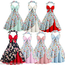 Retro Vintage 50s Wiggle Flared Dress Mini Cocktail Evening Party Swing Dress