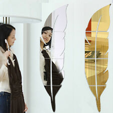 Feather Tip Right Mirror Wall Sticker Fashion Creative Minimalist Home