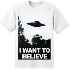 Classic X Files Agent Fox Mulder I Want To Believe Office Poster Scully Retro TV