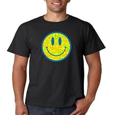 Neon Smiley Face T Shirt Peace Sign Love Music Happy