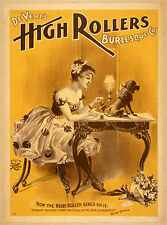 Photo Print Vintage Poster: Stage Theatre Flyer The High Rollers 09