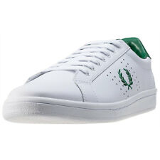 Fred Perry B721 Unisex Trainers White Green New Shoes