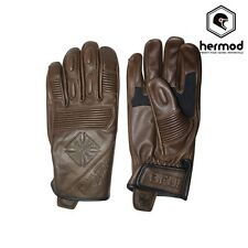 West Coast Choppers WCC BFU Leather Motorcycle Motorbike Gloves - Tobacco Brown