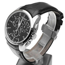 New Tissot Couturier Black Leather Chrono Watch T035.617.16.051.00