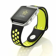 Replacement Silicone Nike Sports Bracelet Strap + Silver Frame For Fitbit Blaze