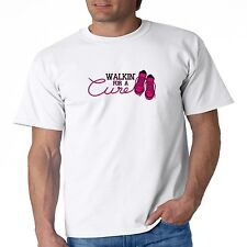 Breast Cancer Awareness T Shirt Walkin For A Cure Pink Ribbon Support Survivor