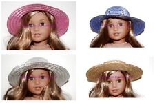 1 Straw Hat You Choose 4 Color Fits 18 in American Girl Doll Clothes