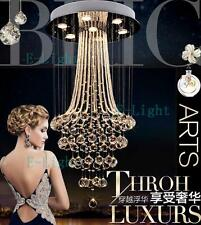 LED New Luxury Long Crystal Lamp Ceiling Lighting Stair Light Chandelier Pendant