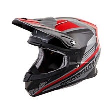 Scorpion Adult Silver/Red/Black VX-R70 Ascend ECE/DOT Off-Road Dirt Bike Helmet