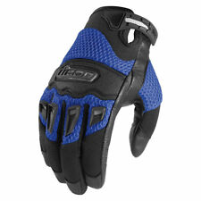 Icon Mens Blue/Black Leather/Textile Mesh Twenty-Niner Motorcycle Gloves