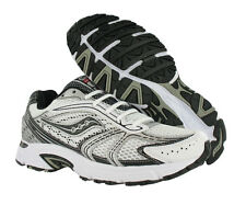 Saucony Grid Cohesion 4 Athletic Mens Running Shoes White/black/silver Size