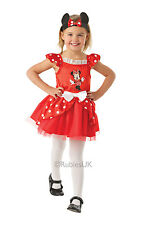 Kids Licensed Disney Minnie Mouse Red Ballerina Girls Fancy Dress Costume Outfit