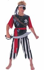 SALE! Kids Caribbean Pirate King Boys Book Week Fancy Dress Costume Party Outfit