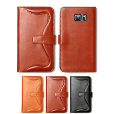 Zenus Western Genuine Leather Protect Diary Cover Case For Samsung Galaxy Note5