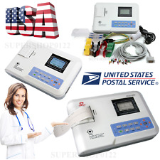 US Portable ECG100G Single Channel 12-Lead ECG / EKG Machine Electrocardiograph