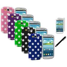 Polka Dot Hard Ultra Thin Case Cover+LCD Film+Stylus for Samsung Galaxy S3 SIII