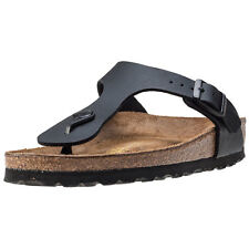 Birkenstock Gizeh Birko-flor Narrow Womens Sandals Black New Shoes