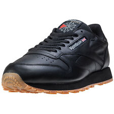 Reebok Classic Leather Womens Trainers Black Gum New Shoes